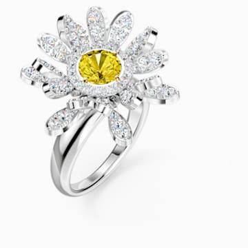 Anillo Eternal Flower, amarillo, combinación de acabados metálicos - Swarovski, 5534945