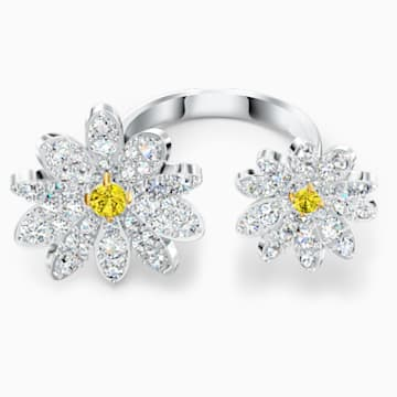 Eternal Flower Open Ring, Yellow, Mixed metal finish - Swarovski, 5534947