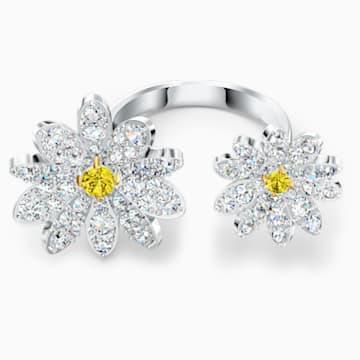 Bague ouverte Eternal Flower, jaune, finition mix de métal - Swarovski, 5534948