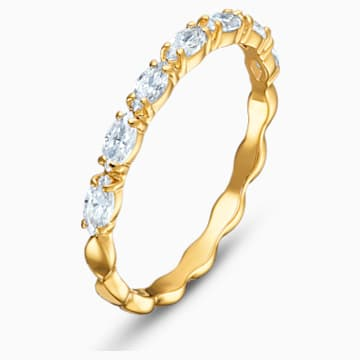 Vittore Marquise gyűrű, fehér, arany árnyalatú bevonattal - Swarovski, 5535227