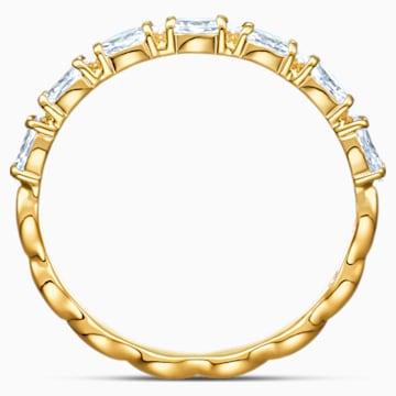 Vittore Marquise 戒指, 白色, 鍍金色色調 - Swarovski, 5535227
