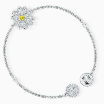 Řetízek s květinou z kolekce Swarovski Remix, bílý, rhodiovaný - Swarovski, 5535252