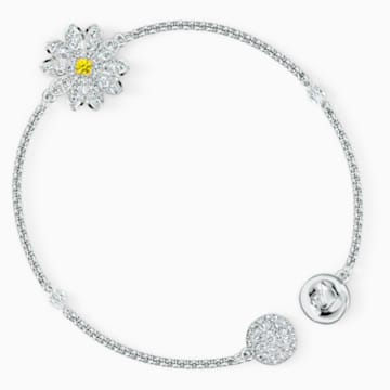 Swarovski Remix Collection Flower Strand, White, Rhodium plated - Swarovski, 5535252