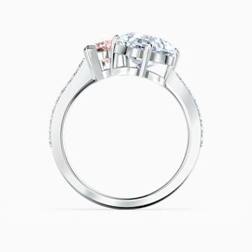 Attract Soul Ring, Pink, Rhodium plated - Swarovski, 5535260