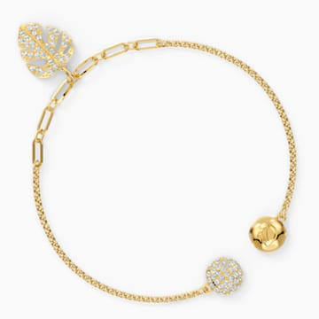 Swarovski Remix Collection Tropical Leaf Strand, White, Gold-tone plated - Swarovski, 5535262
