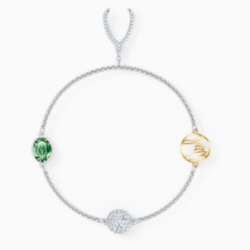Strand Swarovski Remix Collection Wishbone, vert, métal rhodié - Swarovski, 5535284