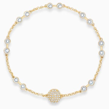 Carrier Swarovski Remix Collection, bianco, placcato color oro - Swarovski, 5535290
