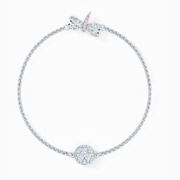 Strand Swarovski Remix Collection Dragonfly, bianco, placcato rodio - Swarovski, 5535334