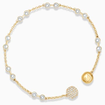 Carrier Swarovski Remix Collection, blanc, métal doré - Swarovski, 5535353