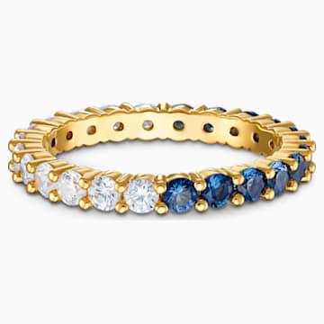 Vittore Half XL Yüzük, Mavi, Altın rengi kaplama - Swarovski, 5535360