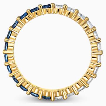 Vittore XL félgyűrű, kék, arany árnyalatú bevonattal - Swarovski, 5535360