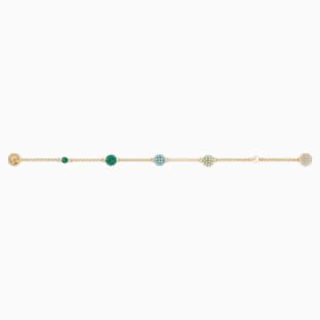 Swarovski Remix Collection Pop Strand, 綠色, 鍍金色色調 - Swarovski, 5535365