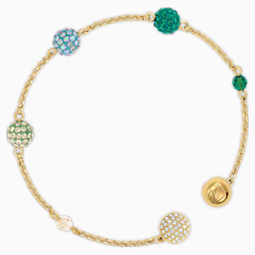 Strand Swarovski Remix Collection Pop, verde, baño tono oro - Swarovski, 5535365