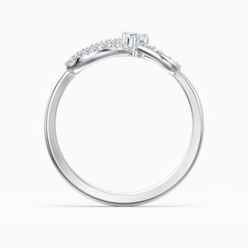 Δαχτυλίδι Swarovski Infinity, λευκό, επιροδιωμένο - Swarovski, 5535396