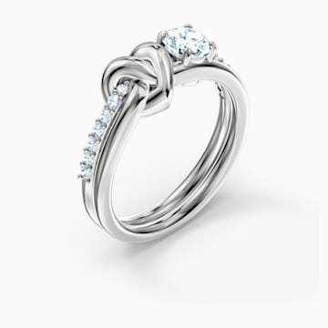 Anello Lifelong Heart, bianco, placcato rodio - Swarovski, 5535399