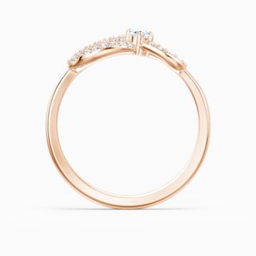 Bague Swarovski Infinity, blanc, métal doré rose - Swarovski, 5535400