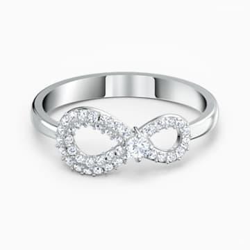 Δαχτυλίδι Swarovski Infinity, λευκό, επιροδιωμένο - Swarovski, 5535410
