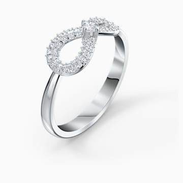 Swarovski Infinity Ring, White, Rhodium plated - Swarovski, 5535410