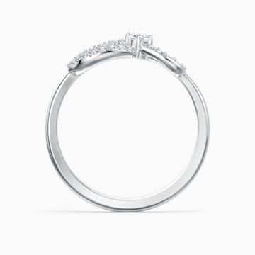 Swarovski Infinity Ring, weiss, rhodiniert - Swarovski, 5535410