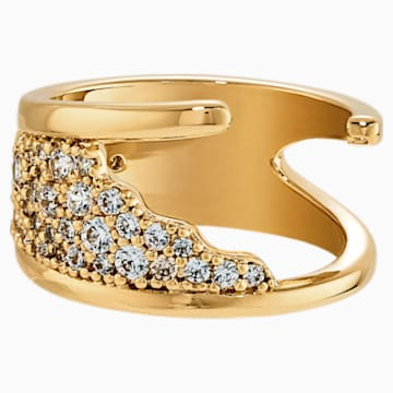 Gilded Treasures Ring, White, Gold-tone plated - Swarovski, 5535425