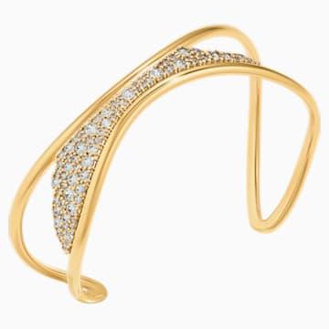 Gilded Treasures Cuff, White, Gold-tone plated - Swarovski, 5535430