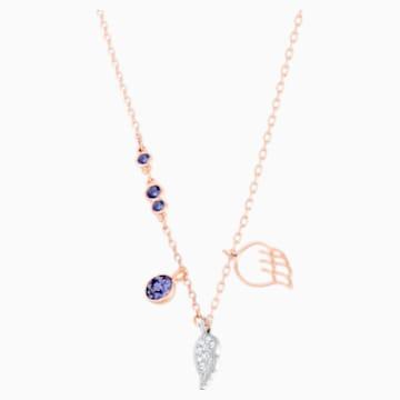 Swarovski Symbolic Wing Anhänger, violett, Rosé vergoldet - Swarovski, 5535523