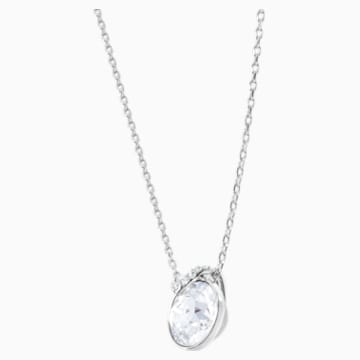 Bella V Pendant, White, Rhodium plated - Swarovski, 5535526