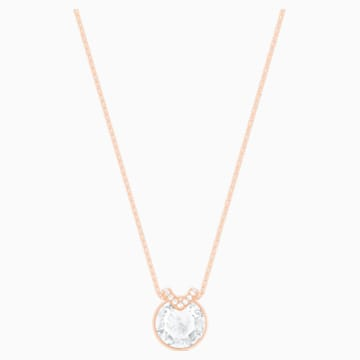 Pendente Bella V, bianco, placcato oro rosa - Swarovski, 5535528