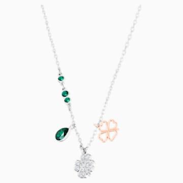 Pendente Swarovski Symbolic Clover, verde, Mix di placcature - Swarovski, 5535554