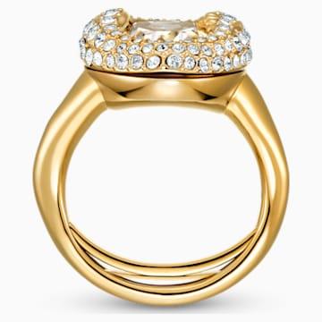 Shell 戒指, 白色, 镀金色调 - Swarovski, 5535565