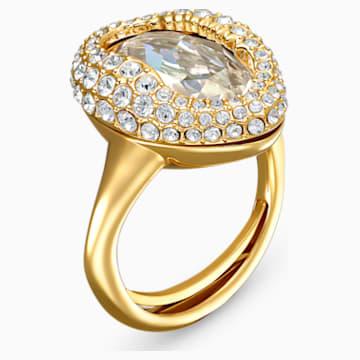 Shell gyűrű, fehér, arany árnyalatú bevonattal - Swarovski, 5535565