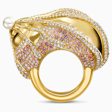 Sculptured Shells Ring, Light multi-colored, Mixed metal finish - Swarovski, 5535678