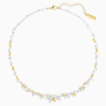Botanical 项链, 白色, 镀金色调 - Swarovski, 5535775