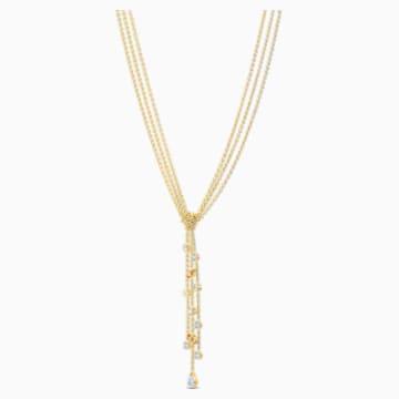 Botanical Y-Halskette, weiss, vergoldet - Swarovski, 5535779