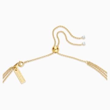 Collar en Y Botanical, blanco, baño tono oro - Swarovski, 5535779