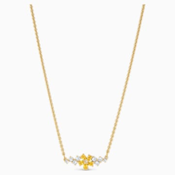 Collier Botanical, jaune, métal doré - Swarovski, 5535781