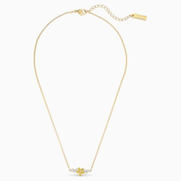 Collar Botanical, amarillo, baño tono oro - Swarovski, 5535781