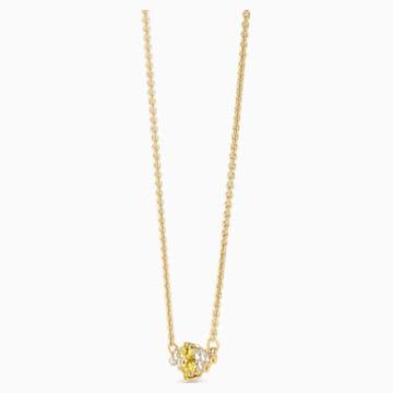 Botanical Halskette, gelb, vergoldet - Swarovski, 5535781