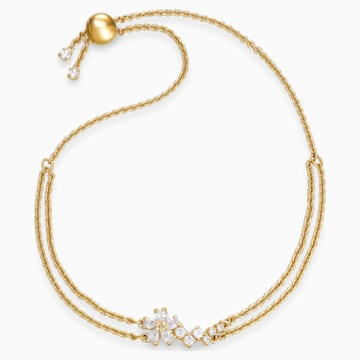 Botanical Armband, weiss, vergoldet - Swarovski, 5535790