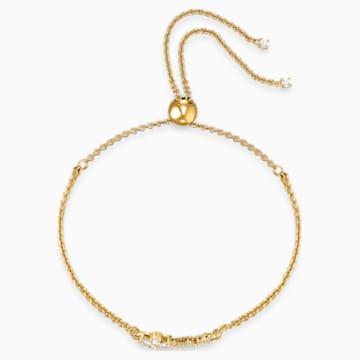 Botanical 手链, 白色, 镀金色调 - Swarovski, 5535790