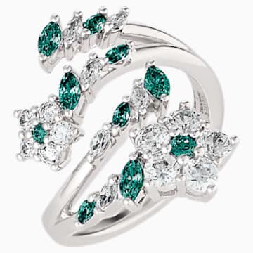 Botanical Offener Ring, grün, rhodiniert - Swarovski, 5535825