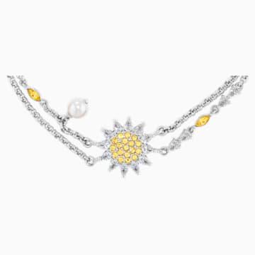 Bracelet Botanical, jaune, métal rhodié - Swarovski, 5535866