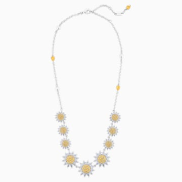 Botanical 项链, 黄色, 镀铑 - Swarovski, 5535874