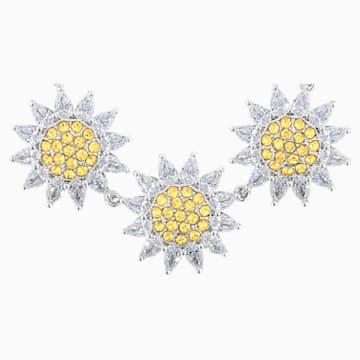 Botanical Halskette, gelb, rhodiniert - Swarovski, 5535874