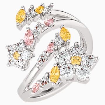 Otevřený prsten Botanical, světlý, vícebarevný, rhodiovaný - Swarovski, 5535878