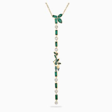 Beautiful Earth by Susan Rockefeller Y-Halskette, Panda, grün, vergoldet - Swarovski, 5535890