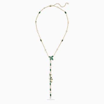 Collier en Y Bamboo Panda, vert, métal doré - Swarovski, 5535890