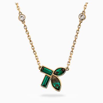 Collier Beautiful Earth by Susan Rockefeller, vert, métal doré - Swarovski, 5535891