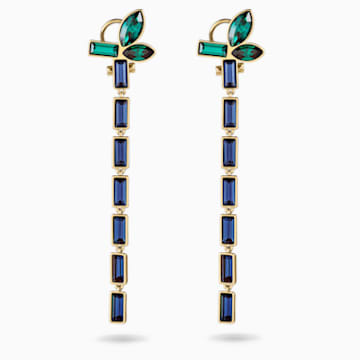 Beautiful Earth by Susan Rockefeller Pierced Earrings, Dark multi-coloured, Gold-tone plated - Swarovski, 5535892