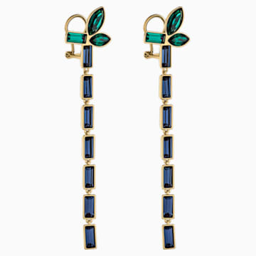 Beautiful Earth by Susan Rockefeller Pierced Earrings, Dark multi-colored, Gold-tone plated - Swarovski, 5535892